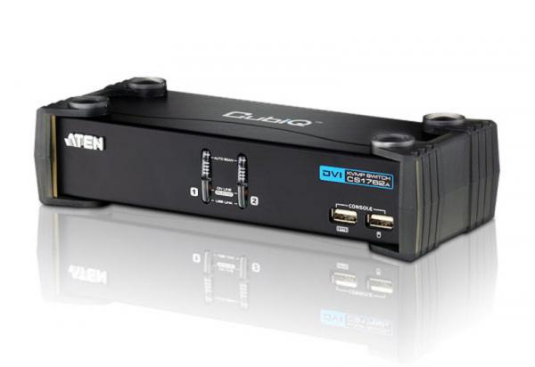 ATEN  2 Port Usb Dvi Kvmp Switch W/ Usb 2.0 Hub CS1762A-AT-U