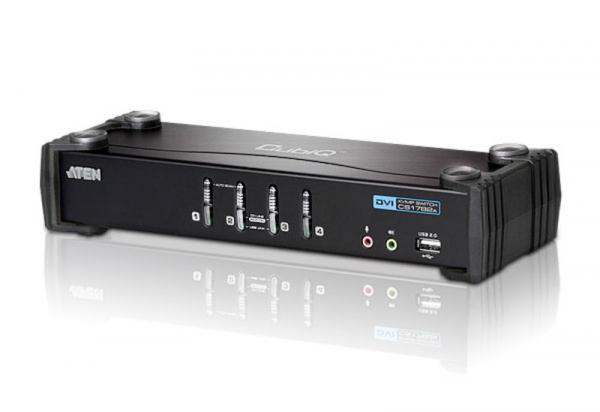 ATEN  4 Port Usb Dvi Kvmp Switch W/ Usb 2.0 Hub CS1764A-AT-U