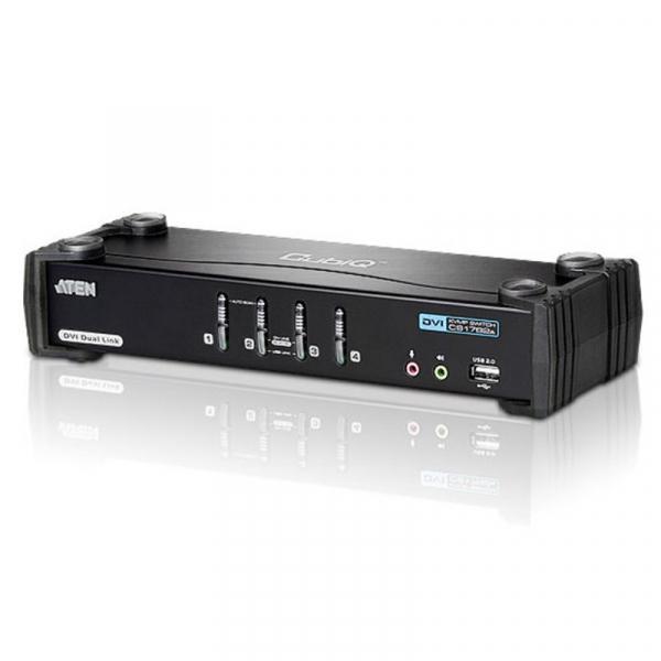 ATEN  4 Port Usb Dual-link Dvi Kvmp Switch With CS1784A-AT-U
