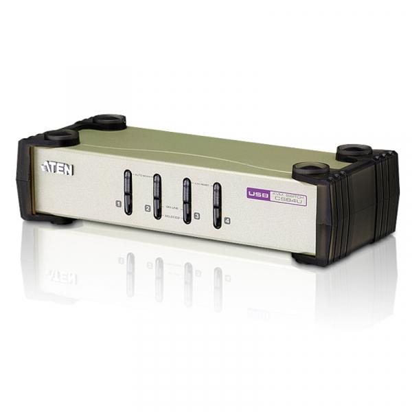 ATEN  4 Port Usb-ps/2 Vga Kvm Switch - Cables CS84U-AT