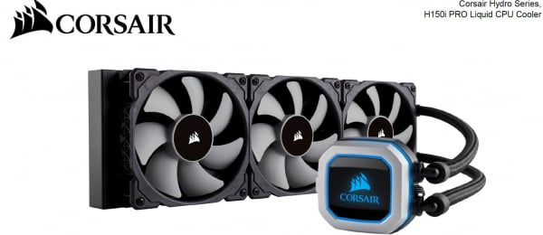 CORSAIR H150i Pro RGB 360mm Radiator Triple CW-9060031-WW