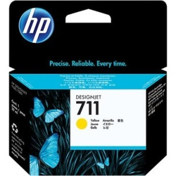 HP  711 Yellow Ink Cartridge 29-ml For CZ132A