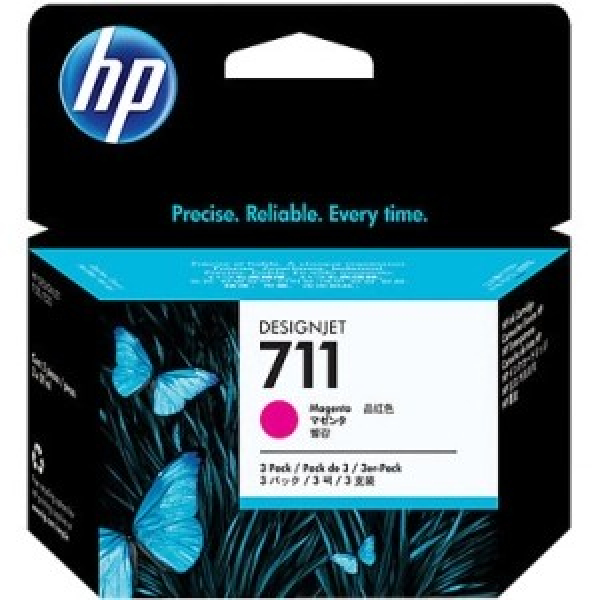 HP  711 Magenta Ink Cartridge 3-pack 29-ml For CZ135A