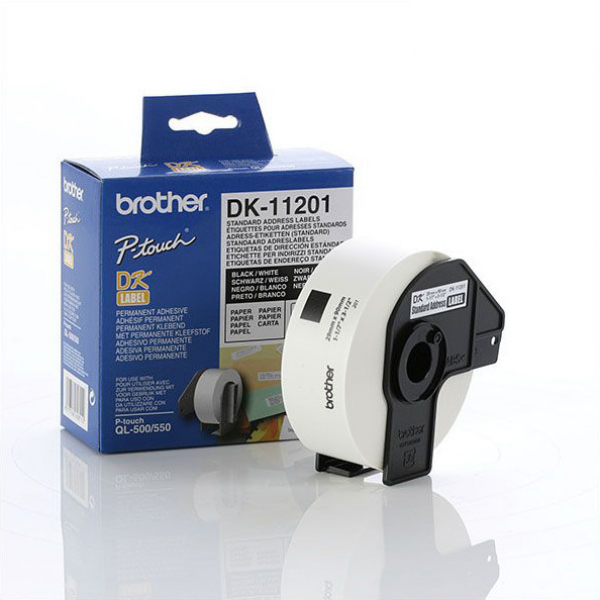 BROTHER White Standard Address Labels 29mmx90mm DK-11201