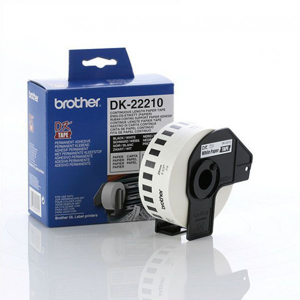 BROTHER White Continuous Paper Roll 29mm X DK-22210