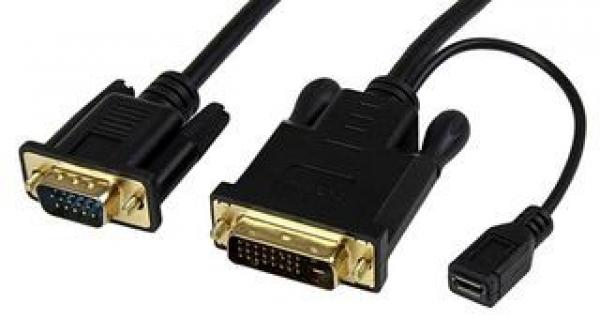 STARTECH 3 Ft Dvi To Vga Active Converter Cable DVI2VGAMM3